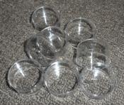 100 Clear Plastic Tea Light Cups - Standard Size