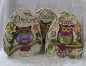 Owl Dream, Faith & Peace Statue Ornament Garden Home Decor