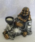 Laughing Buddha Tea Light Candle Holder