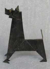 Quirky Origami Metal Dog