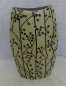 Unique & Quirky Cream & Black Vase