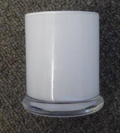 Jotogifts Product - Medium Base Opaque White Danube Glass Jar