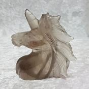 11cm Hand Carved Smoky Quartz Unicorn