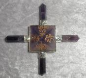 Amethyst Energy Generator with  Reiki Symbols