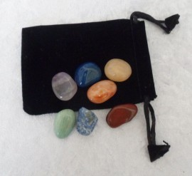 Chakra Tumbled Stone Set with Pouch