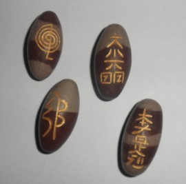 Set of Four (4) Sacred Shiva Lingam Usui Reiki Eggs