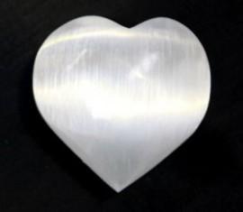 7cm Puffy Selenite Heart