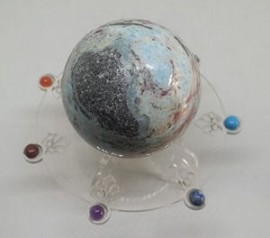Natural Larimar Sphere - Atlantis Stone (Rare)